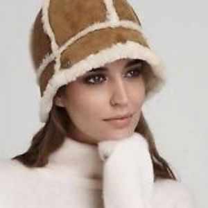 UGG Accessories - UGG Australia Shearling Bucket Hat Chestnut O S d07f8a0bfd5